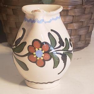 Vintage Handmade Hungarian Folk Art Pitcher